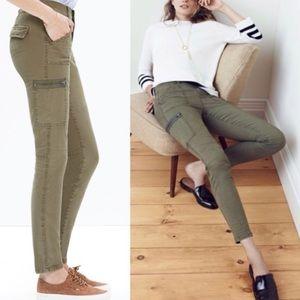 Madewell Skinny Fatigue Dark Olive Green Pants 25